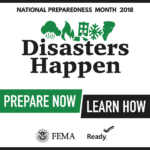 Disasters Happen Prepare Now Learn How logo