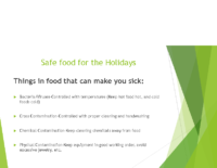 Safe Food for the Holidays